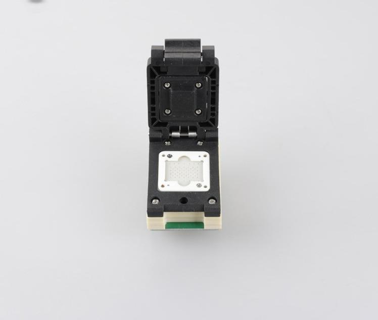LGA60 Pogo Pin Probe Flash Programmer Adapter test socket Burn in Test Socket for naviplus PRO3000S NAND programmer nand socket clamshell qfp144 lqfp144 tqfp144 su h8s2505 tq144 programmer adapter for lp programmer