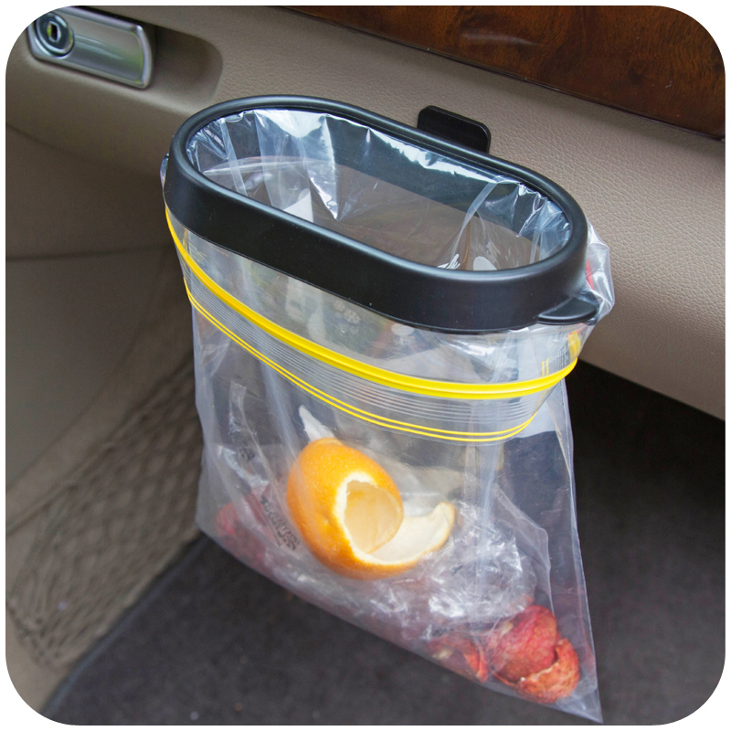 Car Accessories Rubbish Bin Organizer Trash Bag Rack Auto Hanger Vehicle Frame Garbage Holder Black Portable In Storage Boxes Bins From Home