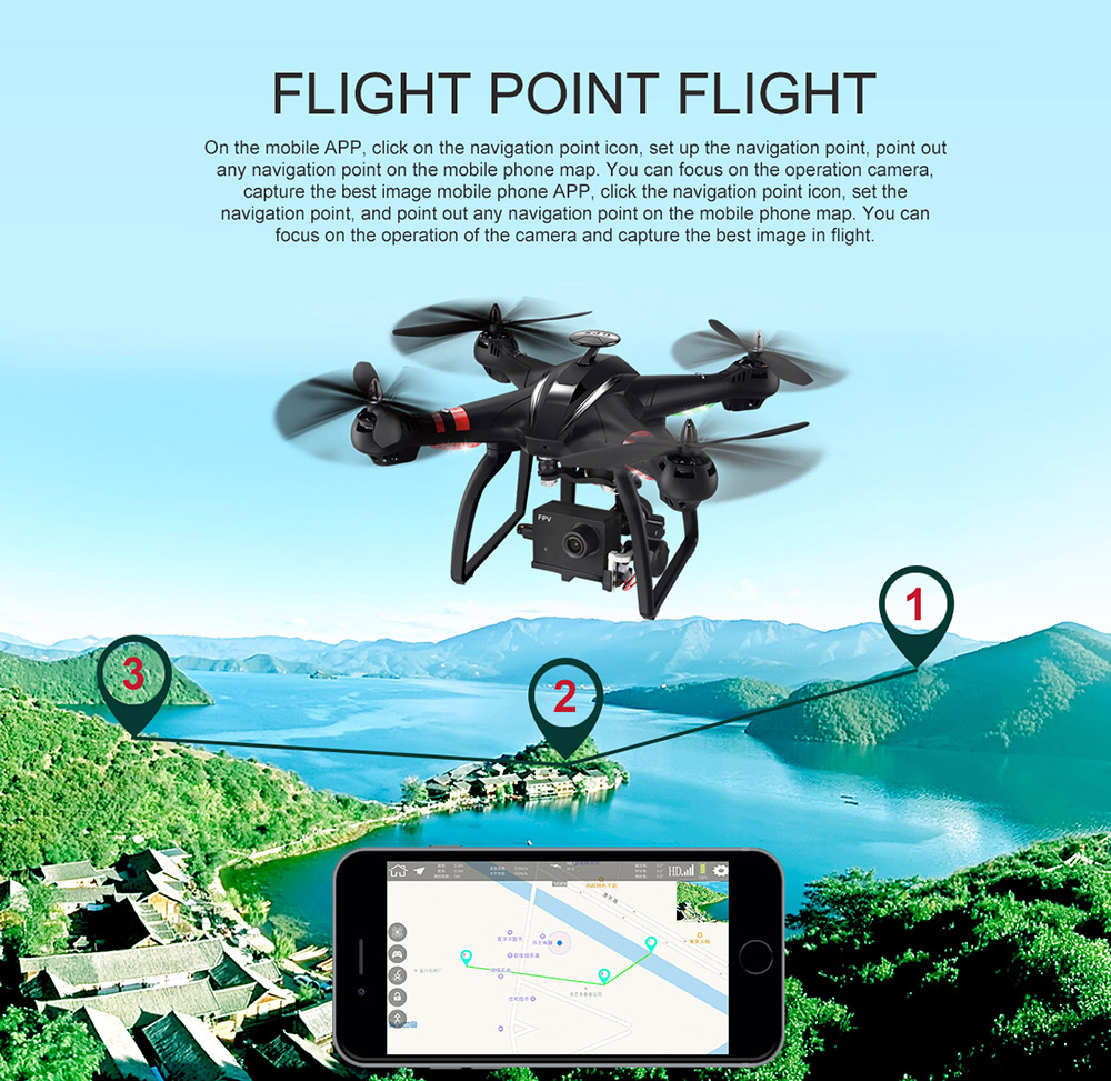 BAYANGTOYS X22 RC Quadcopter Drones Dual GPS WiFi FPV Brushless Follow Me Helicopters Racing Remote Control RC Drone Dron Toys 3