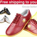 Genuine Leather Cowhide Chinese taichi shoes wushu shoes kungfu taiji Practice match Shoes for men women kids boy girl child