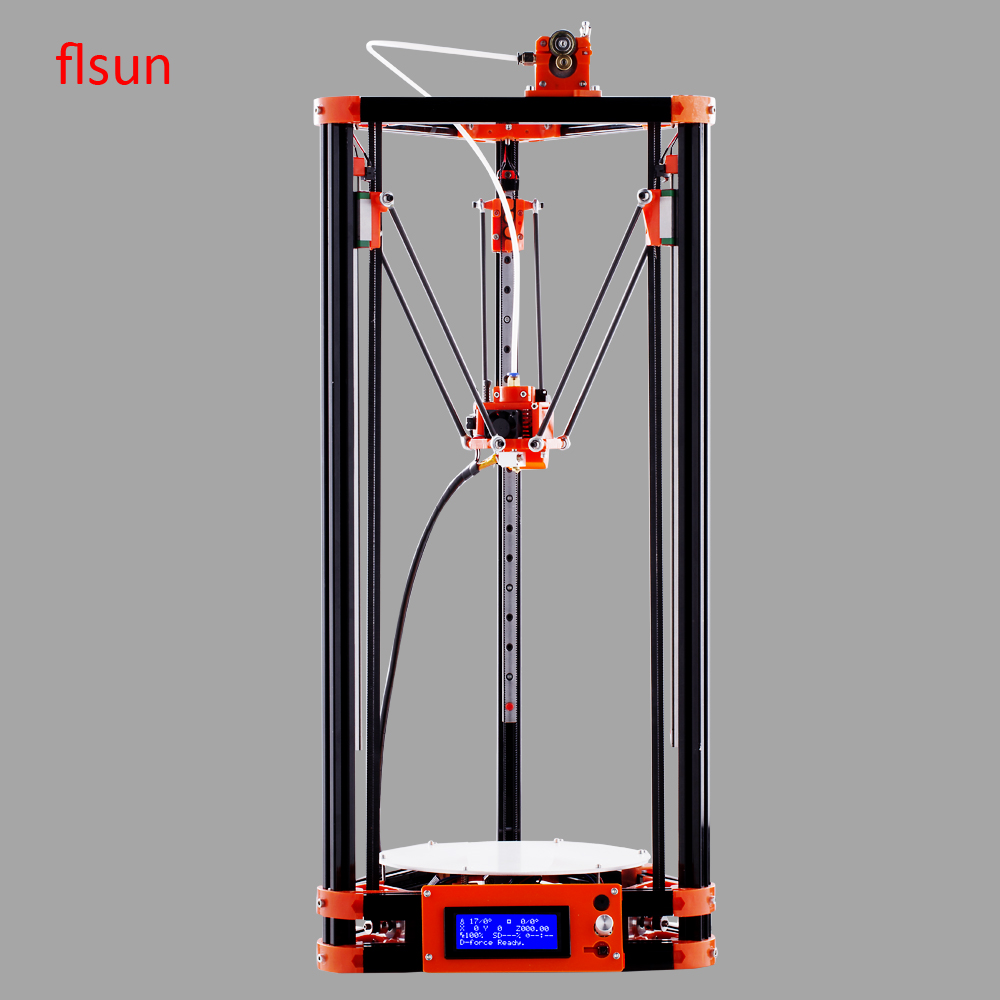 FLSUN Delta Kossel Linear Guide 3d Printer With One Roll Filament Fast Shipping