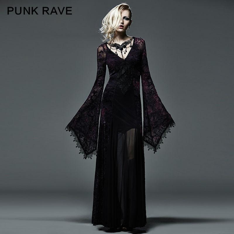 Новый Готический викторианский Arwen длинное платье ретро Макси вампир Kera лолита одежда Q265