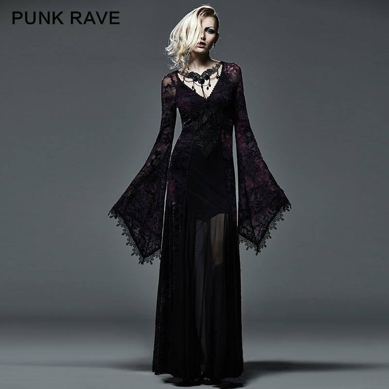 New Style Black Gothic Plus Sizes Wedding Dresses With: Aliexpress.com : Buy New Gothic Victorian Arwen Long Dress