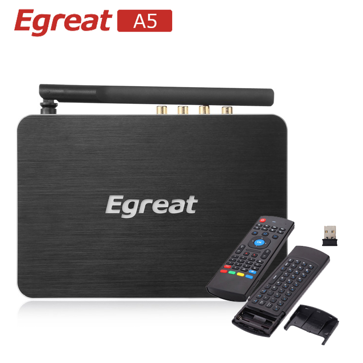 Egreat A5 Android TV Box with Airmouse Free Gift Professional 4K BD Menu HDD Media Player 4K HDR 2G/8G  802.11AC WIFI 1000M LAN egreat a11 tv box 4k uhd media player 2g 16g 2t2r wifi gigabit lan blu ray 3d dolby atoms dts x vidon 2 hdmi ports pk egreat a10