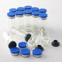 100 шт. 10 мл ясно инъекций Стекло пузырек с флип от шапки и пробка бутылочки медицины экспериментальной Тесты жидкости контейнеры