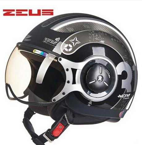 DOT summer  black gray ZEUS ZS-218c half face motorcycle helmet , motorbike moto motocross helmets scoote dirt bike