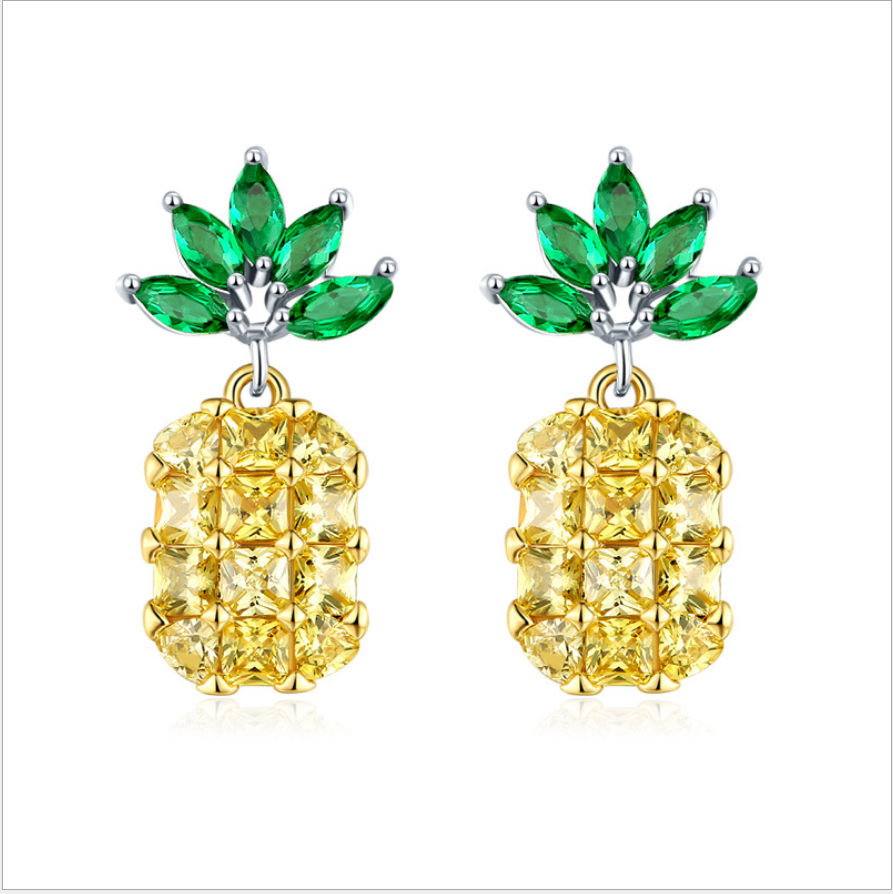 Creative Pineapple Zircon Morganite Green Gems 925