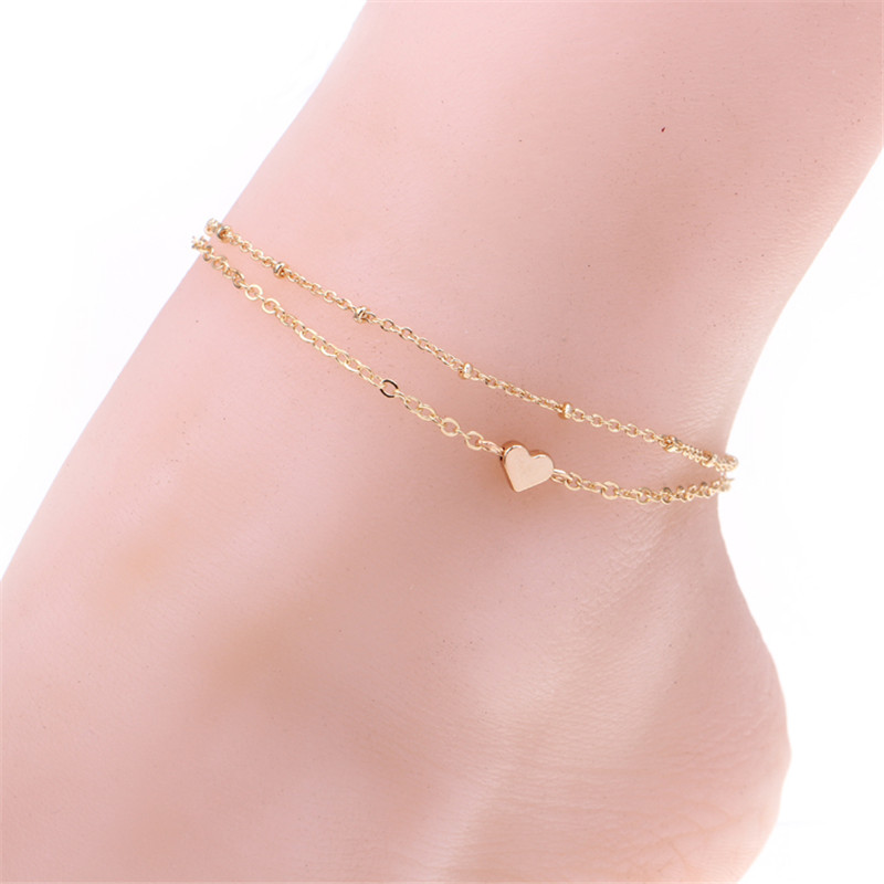 bracelets anklets gold women anklet leg bracelet beads new store copper ankle foot adjustable jewelry arrival product yellow s plating chain