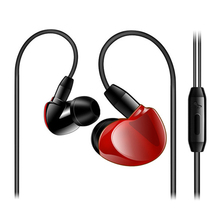 qijiagu 100PCS Runing Headset Super Bass Stereo In-ear Earphones 3.5mm Plug Wired Earbuds with Mic