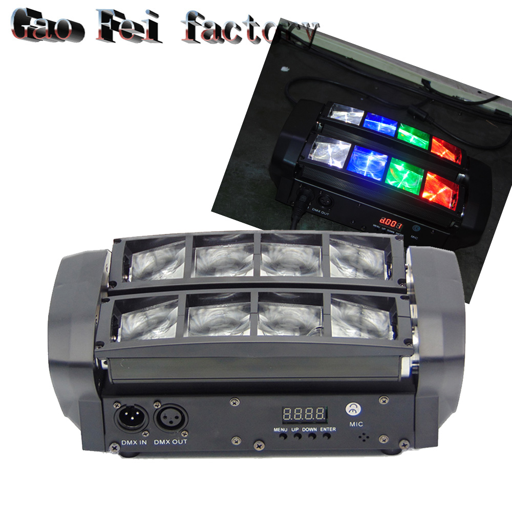 (2pcs/lot) Hot Portable NEW Moving Head Light Mini LED Spider 8x6W RGBW Beam Light Good Quality Fast Shipping стоимость