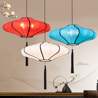 Lantern Pendant Light Vintage Loft Lamp LED Chinese Style Indoor Colorful Kitchen Living Room Restaurant Bar Home Lighting Decor