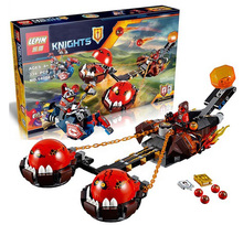 2016 Nuevas Llegadas LEPIN Bloques Caballeros Bestia Maestro del Caos Chariot Edificable Figuras Minifigures Compatible Nexo Legoe