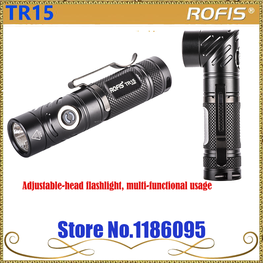 Rofis TR15 CREE XP-L HI V3 LED 700 lumens Adjustable-head flashlight, multi-functional usage flashlight