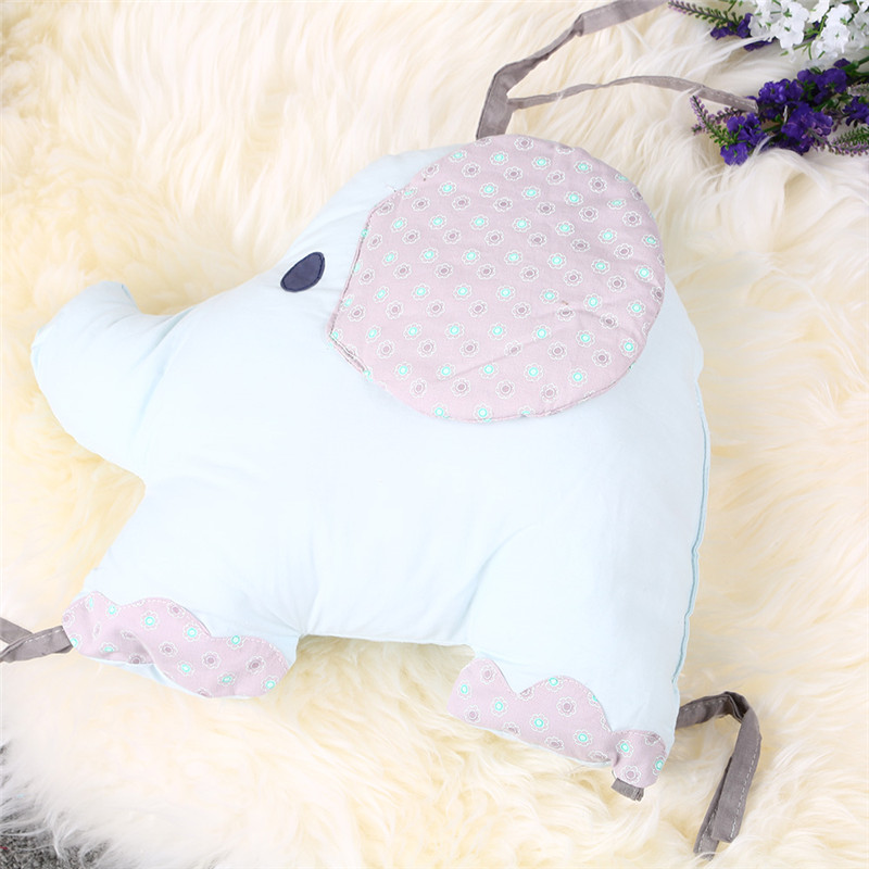 Baby Stroller Accessory Bedding Creative Pillow Embroidery Print Cotton Elephant Cushion Crib Wai kids Car Seat Breathable Pad
