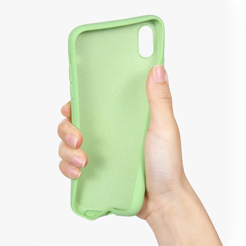 Silicone Liquid Case for IPhone XR Case for IPhone 6s 6 7 8 Plus X XS MAX XR Soft Tpu Back Cover Colors Conque in Fitted Cases from Cellphones Telecommunications