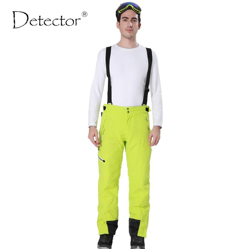Detector Outdoor Sport Pants Men Hiking Camping Pantalon Trekking Windstopper Waterproof Climb Softshell Warm Mens Ski Pant