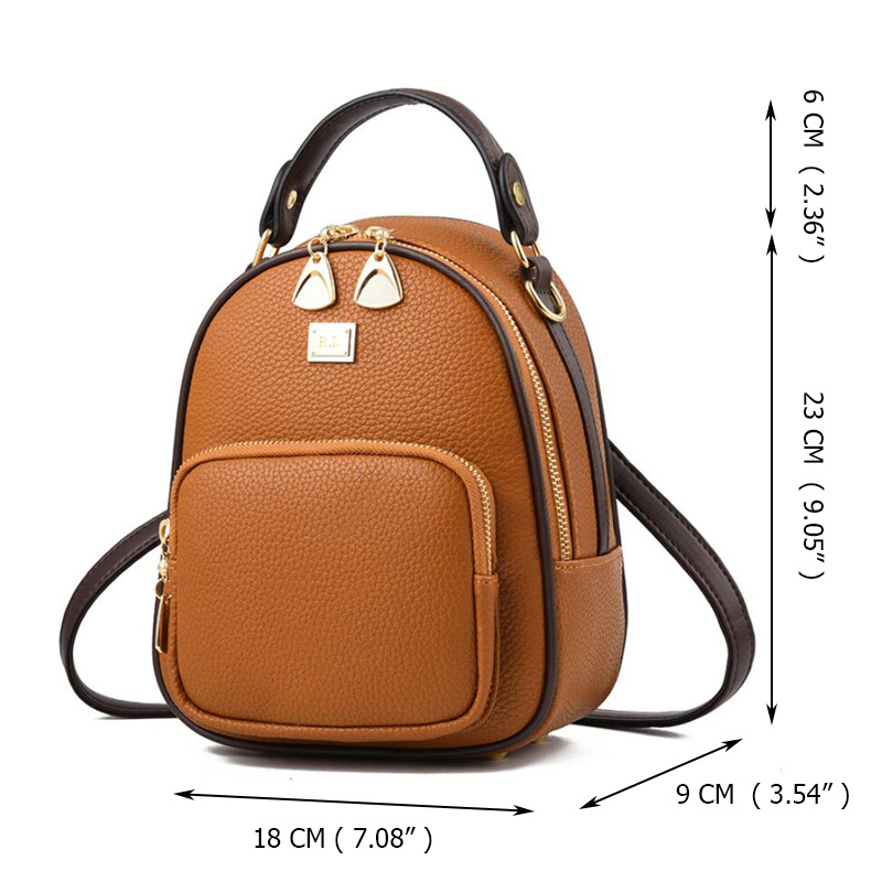 Brand New Leather Small Women Backpacks Zipper Shoulder Bag Female Phone Bags Lady Portable Backpack for Brand New Leather Small Women Backpacks Zipper Shoulder Bag Female Phone Bags Lady Portable Backpack for Girls Casual Style