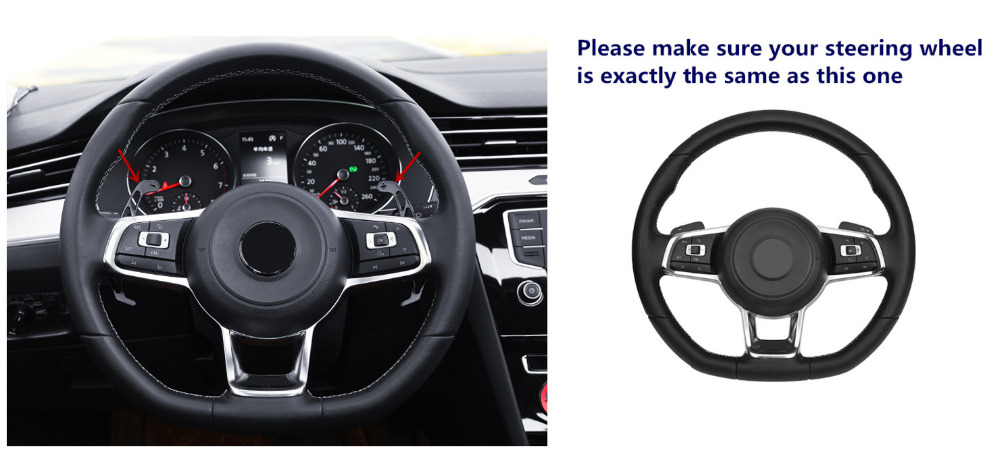 Interior Steering Wheel DSG Shift Paddles Racing Replacement For VW Volkswagen Golf 7 Mk7 GTI Rline 2.0T 2014-2018 chuangmu for hyundai sonata lf the steering wheel shift paddles movement module shell decoration96770