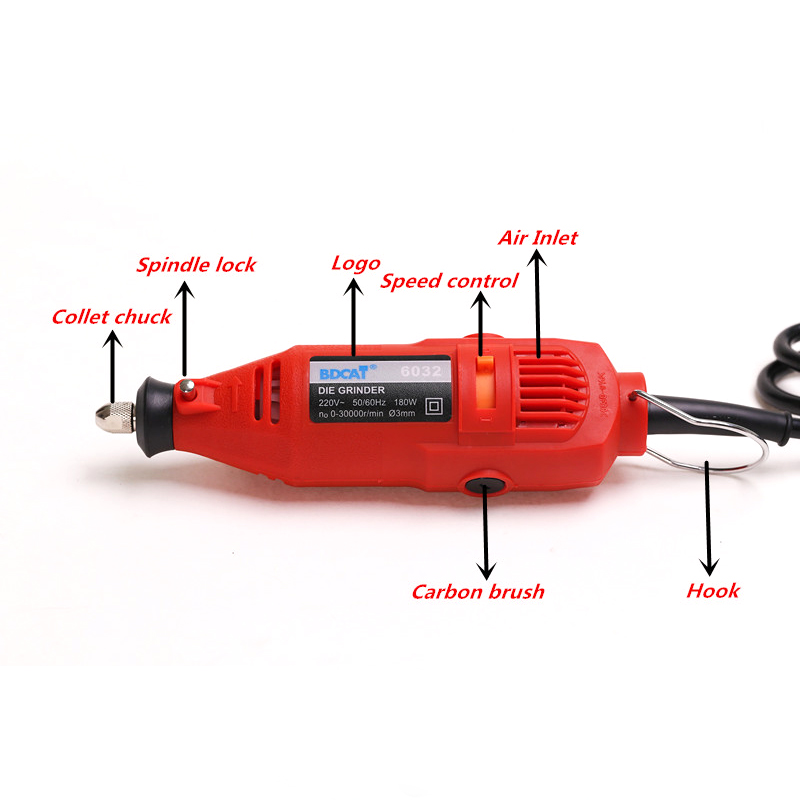BDCAT EU / US plug dremel Grinder Mini trapano a mano elettrico fai - Utensili elettrici - Fotografia 5