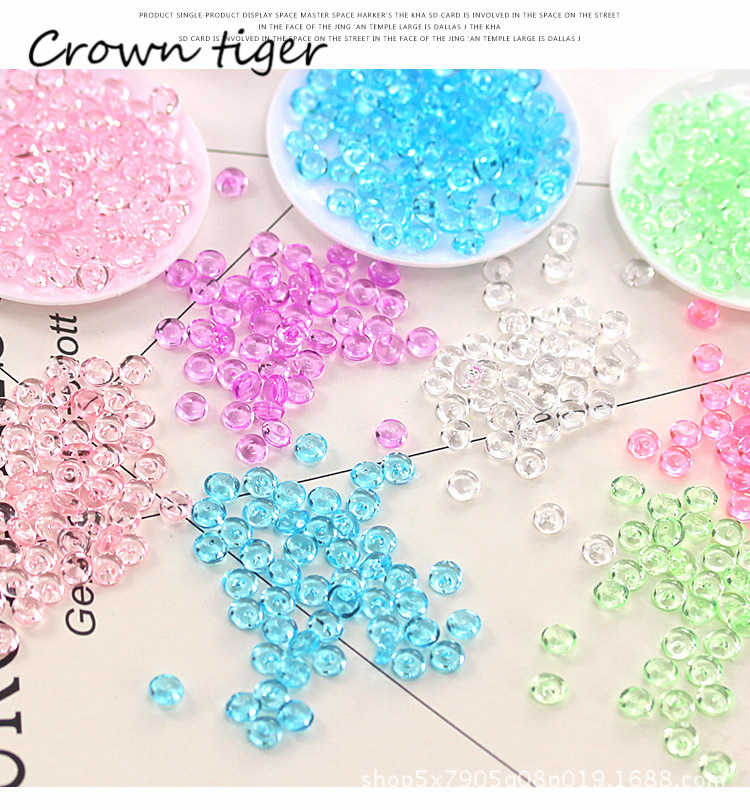 Colorful flat Beads Slime Accessories Balls fishbowl Beads for slime filler Fish Tank Decor Children kids DIY slime supplies