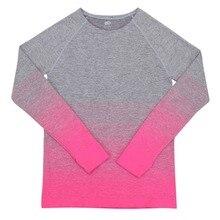 Fashion Women's T-Shirt Elastic Shirt Long Sleeve Tops Fitness O-neck Casual Clothing