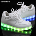 2016 Cesta Light Up Led Zapatos Zapatos Para Hombre Led Lumineuse Schoenen Unisex Amantes Ocasionales Femme Chaussures Homme Luminoso Para Adultos
