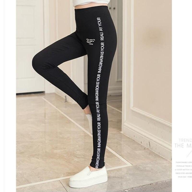2019 Spring Plus Size XL- 5XL Women Leggings European Style Sexy Skinny Ladies Trousers Print Pencil Pants Elastic Waist Capris