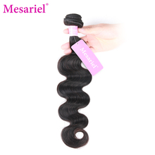 Mesariel  Brazilian Body Wave Bundles Free Shipping Non-Remy Hair 8-28inch Natural Color 100 Human Hair Weave Extensions