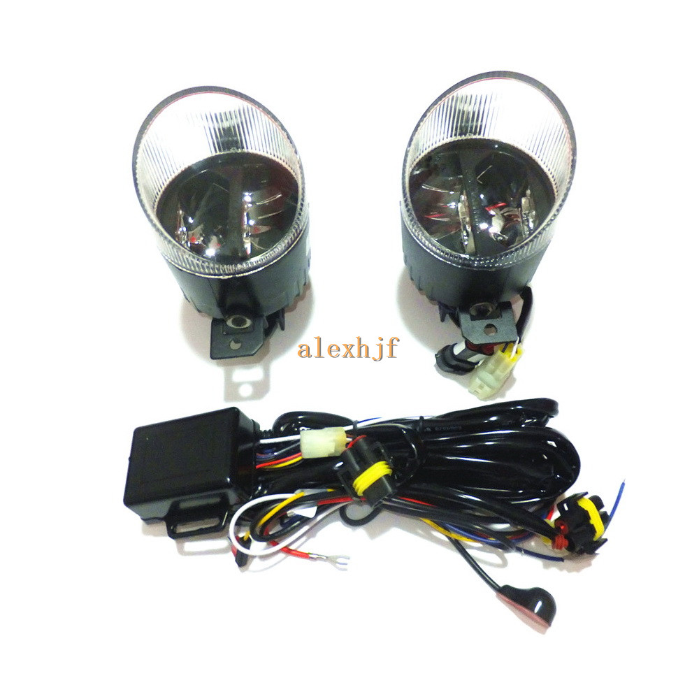 Yeats 1400LM 24W LED Fog Lamp, High-beam+ Low-beam 560LM DRL Case For Renault Koloes Laguna Modus 5D, Automatic light-sensitive