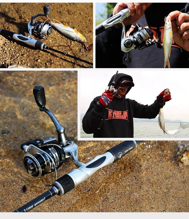 De Fibra De Carbono Telescópica Vara De Pesca Fiação Lançando Vara