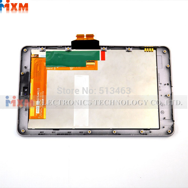 OEM For ASUS Google Nexus 7 1st gen LCD Display Touch Screen with Digitizer + Silver Bezel Frame Assembly Free shipping !!! new lcd touch screen digitizer with frame assembly for lg google nexus 5 d820 d821 free shipping