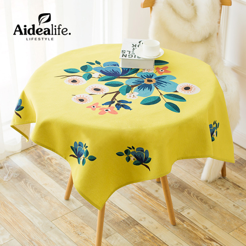 Europe Jacquard Waterproof Yellow Round Tablecloth 180 Cm Wholesale Fabric  Tablecloths Elegant Wedding Chair Covers(