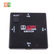 HDMI KVM Switch 4 port 3 Input 1 Output HDMI Splitter Video Monitor 1080P Resolution HDMI Switcher