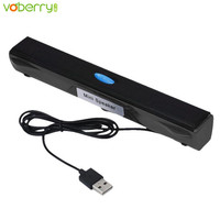 VOBERRY USB Pulpit Multimedialny Odtwarzacz Muzyczny Mini Głośnik do Komputera PC Laptop Notebook Głośników Wysokiej Jakości Soundbar