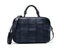 Vintage Crafts Men's Briefcases business travel bag Genuine Leather Laptop Tote messenger bags