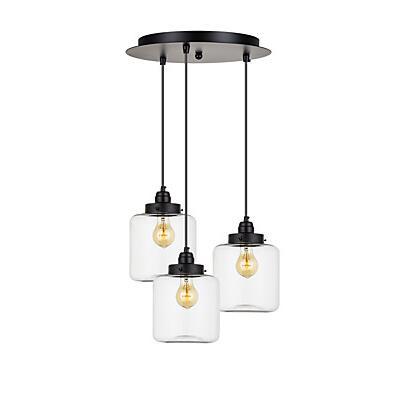 IWHD 3 Heads Retro Vintage Lamp Style Loft Industrial Lighting Edison Pendant Lights Fixtures Glass Hanglamp Lampen