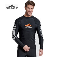 Nylon Lycra Natação SBART Homens Da Camisa de Proteção Solar Anti-jellyfish Two-Piece Swimwear Separa para Snorkling Surfing