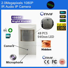 Full HD 1080P Security Pir IP Network Camera Covert Audio Night vision PIR IR IP Camera
