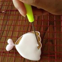 1PCS Marking Patterns Icing Sugar Craft Fondant Kitchen Baking Accessories DIY Cake Decorating Scriber Needle Modelling Tool
