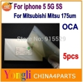 5pcs 250um For iphone 5 5g 5s 5gs oca film for Mitsubishi Mitsu Rohs OCA Optical Clear Adhesive Free shipping