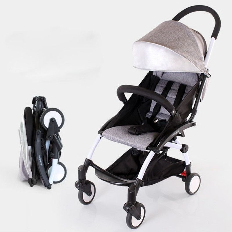 baby strollers ultra-lightweight folding can sit can lie high landscape umbrella baby trolley summer and winter