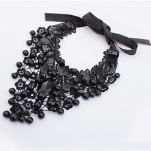 ФОТО n637 2017 female jewelry black lace necklaces & pendants short choker women accessories gift  false collar statement necklace