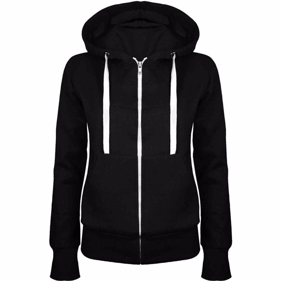YJSFG HOUSE Fashion Women Coat Classic Thick Hooded Casual Sweatshirt Hoodie Jumper Top Warm Hip Hop Streetwear Zipper Home New