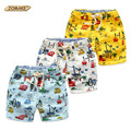Cartoon Car Graffiti Toddler Boys Shorts Summer Children Clothing Casual Print Cotton Beach Shorts Elastic Waist Baby Boy Pants