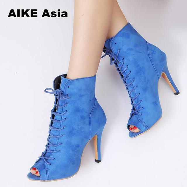 b07a936ea130a Gladiator High Heels Women Pumps Genova Stiletto Sandal Booties Pointed Toe  Strappy Lace Up Pumps Shoes Woman Boots #6009
