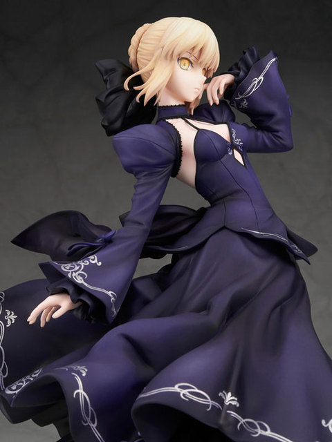 NEW hot 26cm Fate Zero Fate stay night black saber Arturia Pendragon action figure collection toys Christmas gift no box 5