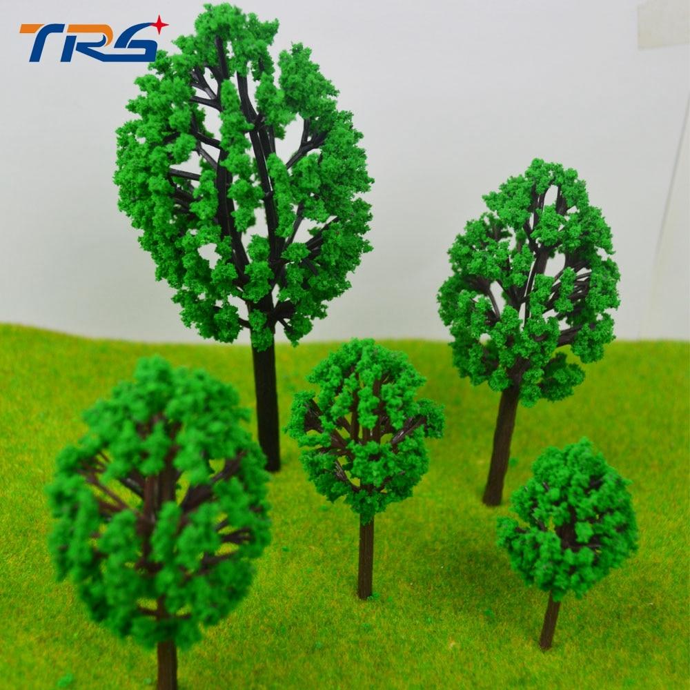 Teraysun ABS Plastic Model Trees Train Railroad Scenery Green HO N Z Scale Model Building Kits for architecture model making