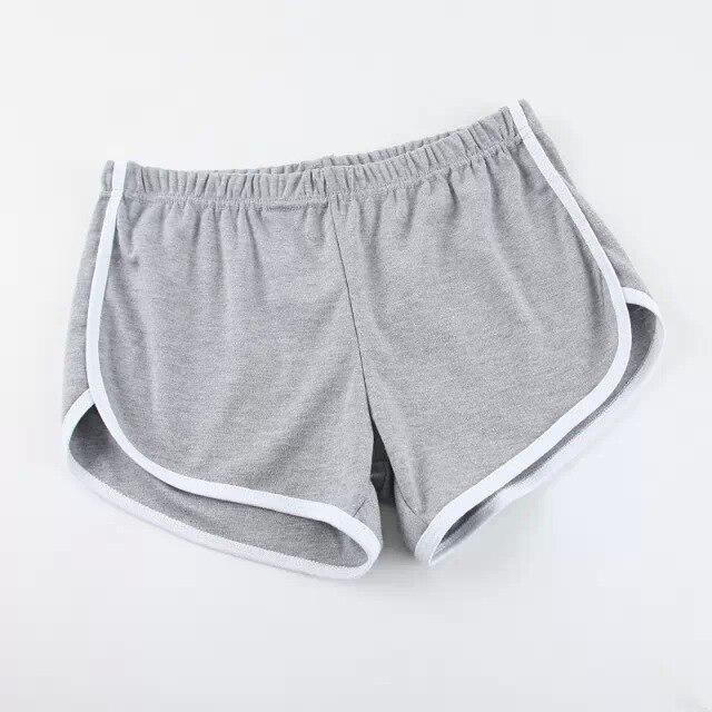 Карамельный цвет ретро пикантные стрейч шорты для женщин женские 13 цветов повседневные свободные пляжные Hotpants - Цвет: Серый