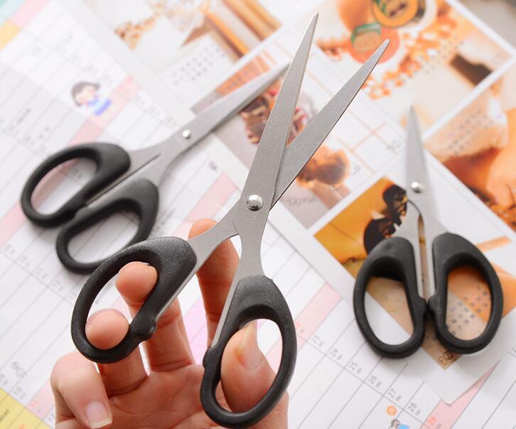 3pcs / Set , Office Stainless Steel Scissors, School Office Paper Cut Scissors , 3 Sizes For Choice