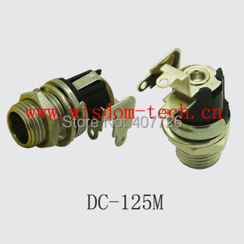 Free shipping 100pcs/lot DC125M socket connector for DIY 2.0pin with screw nut